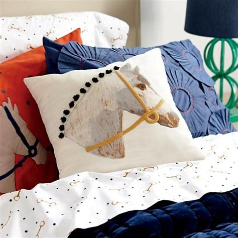 horse themed bedding sets equestrian themed kids bedding the land of nod the