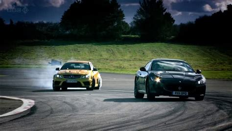 Top Gear Maserati Granturismo by Top Gear Mercedes C63 Amg Coup 233 Black Series Vs Maserati