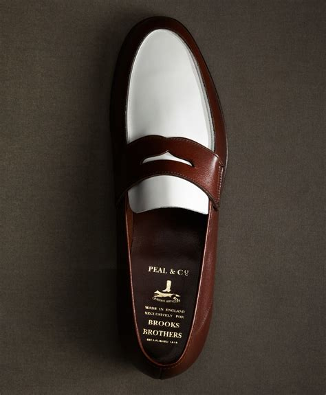 brown and white loafers brothers the great gatsby collection white and