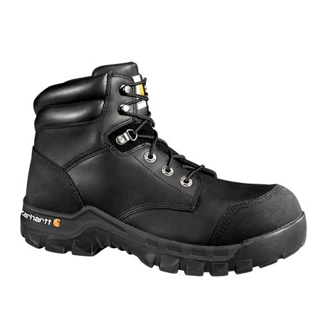 carhartt rugged flex 6 work boots leather s carhartt puncture resistant s 13w black leather rugged