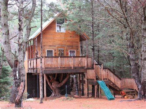 treehouse homes for sale 90k treehouse cabin on 23 acres for sale