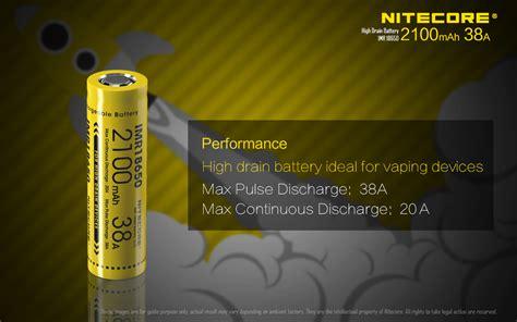 Nitecore Imr18650 Baterai Vape 2500mah 35a 3 7v Murah nitecore imr18650 baterai vape 2100mah 38a 3 7v yellow