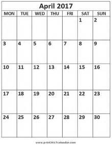 Calendar 2018 Aprilie April 2017 Printable Calendar
