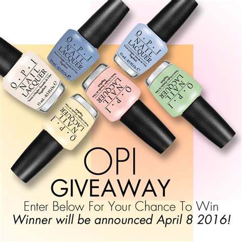lace and lacquers 4 4 manic ure giveaways monday - Opi Giveaway