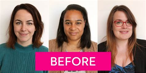 hairstyle makeovers before and after real women try 2015 s biggest hair color trends hair
