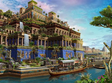 What Are The Hanging Gardens Of Babylon by The Seven Wonders Of The Ancient World Corner