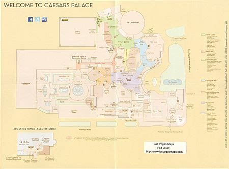 caesars palace map caesars palace property map las vegas maps