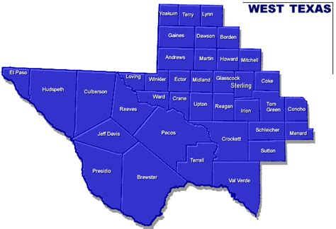 map of west texas counties real estate appraisers in texas appraisersdotcom