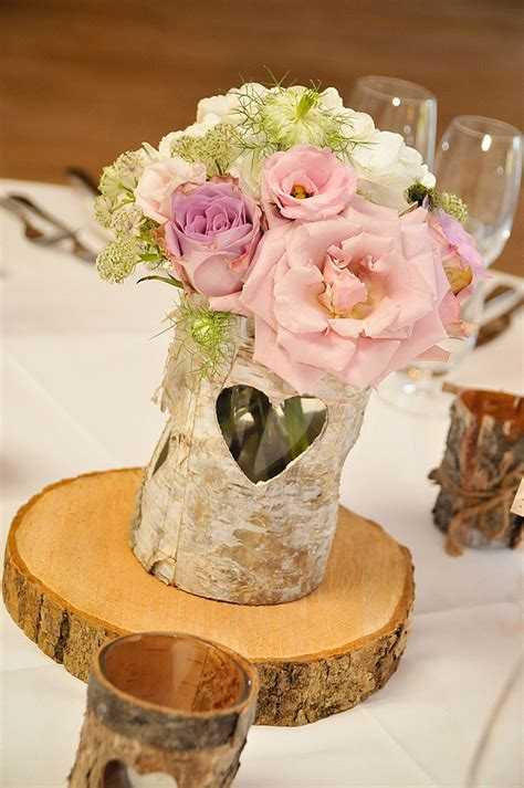 tree table centrepieces barn wedding centrepiece ideas the wedding of my