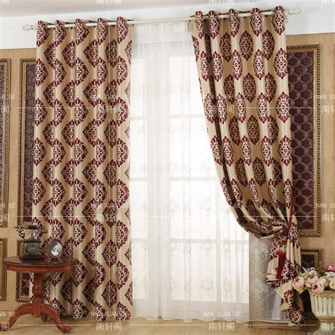 damask bedroom curtains red damask jacquard poly cotton blend insulated bedroom