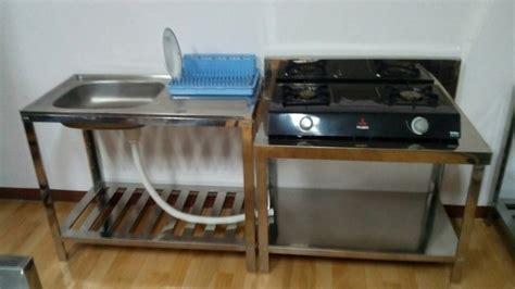 desain meja cuci piring jual 2set meja kompor dan bak cuci piring kitchen set