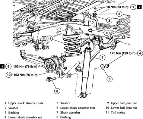 ford escape rear suspension diagram repair guides rear suspension shock absorbers