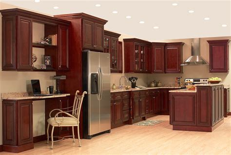 Cherry Red Kitchen Cabinets | dark red cherry kitchen cabinets quicua com