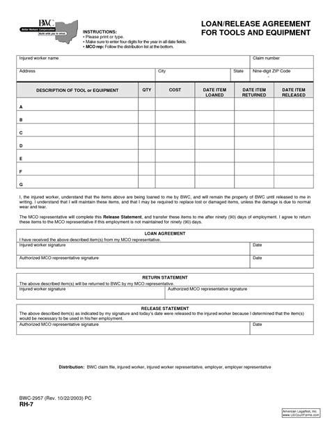 Sle Agreement Letter For Lending Equipment Best Photos Of Employee Equipment Form Template Employee Change Request Form Employee