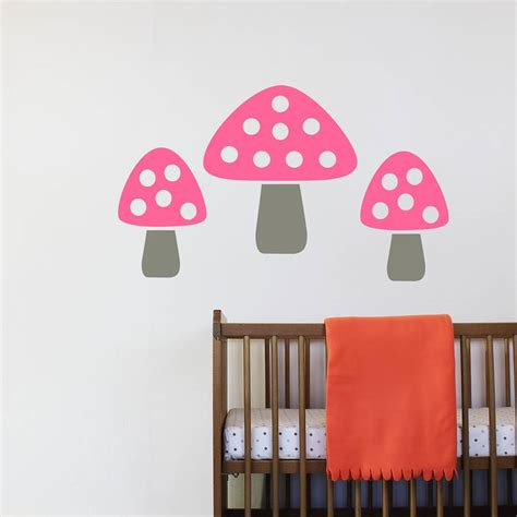 toadstool wall stickers set of five toadstool wall stickers by chip notonthehighstreet