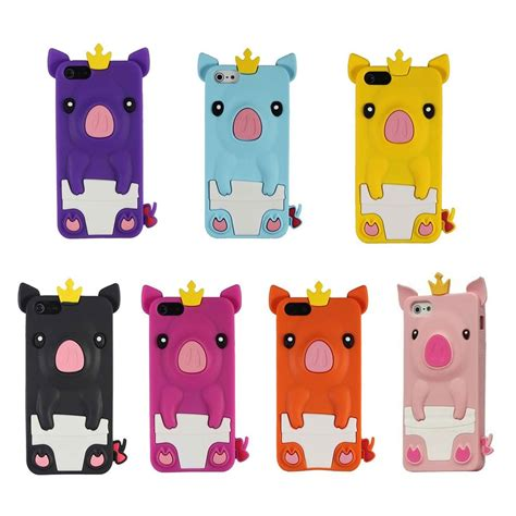 Iphone 55s5se 3d Piggy Pig Silicon new 3d pig animal silicone soft skin cover for apple iphone 5 5s