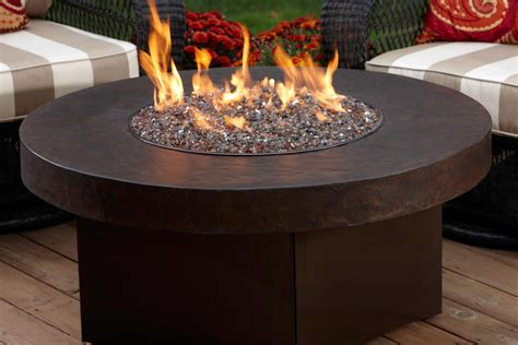 oriflamme gas pit with table top