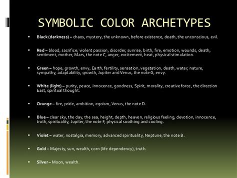 color archetypes color archetypes archetype colors and numbers