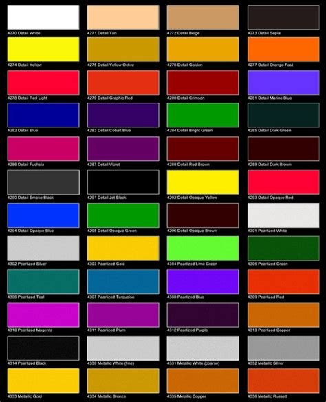car paint colour charts australia maaco paint selection spraying auto paint toyota
