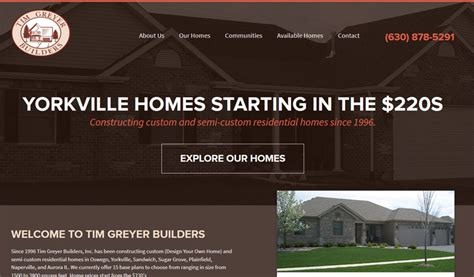 home builder website design home builders web design construction website design