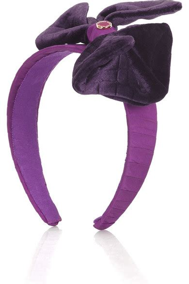 Go With The Bow Hairband By Marc by Marc By Marc Velvet Bow Headband Net A Porter