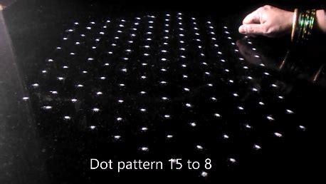 Dot Pigeon Step 1 Isi 2 kolam by sudha balaji lotus kolam with 15 dots for new year