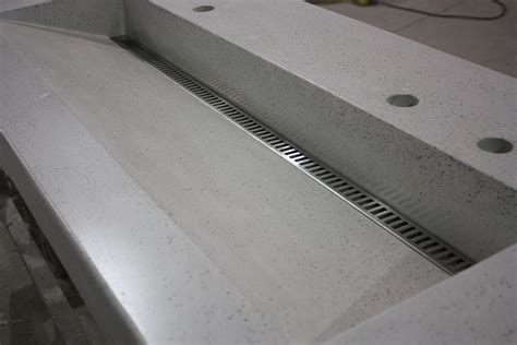 linear drain bathroom sink slot drain trough sink with a stainless linear drain cover
