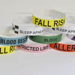 hospital wristband color meaning hospital alert wristbands easyid identification made easy