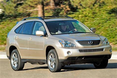 lexus rx 400h reviews lexus rx 400h 2005 2009 used car review car review