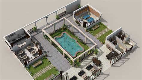 Realism  Isometric Views  Floor House Plans