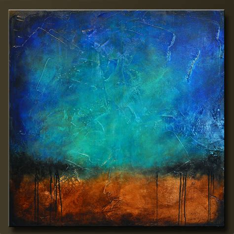 acrylic painting abstract sapphire and sand 6 abstract acrylic painting 36 x 36