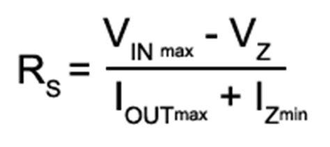shunt resistor formula regulated power supplies