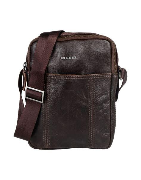 Diesel Leather Brown diesel medium leather bag in brown for brown lyst