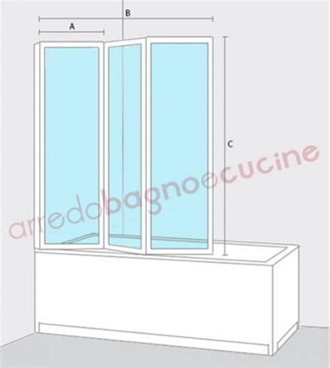 parete doccia vasca box parete vasca doccia sopravasca misura cm 133 134