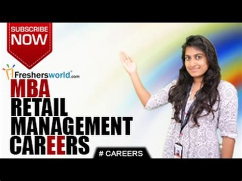Mba Career Management Course by Careers In Mba Retail Management Certificate Course