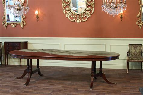 60 Inch To 115 Inch Round To Oval Mahogany Dining Table 60 Dining Table With Leaves