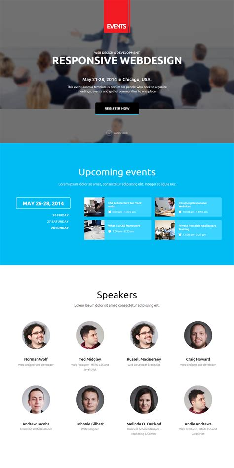 Event Management Joomla Website Templates Themes Free Premium Free Premium Templates Event Website Template