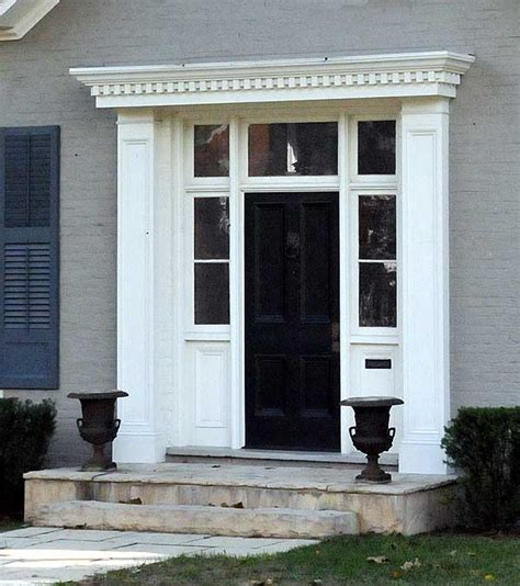colonial front door surrounds home door ideas georgian door surround port hope country home