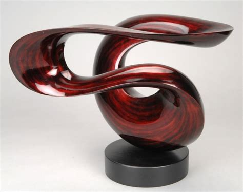 """""""Wind""""  Free Form Lacquered Wood Sculpture, Stohans Showcase"""