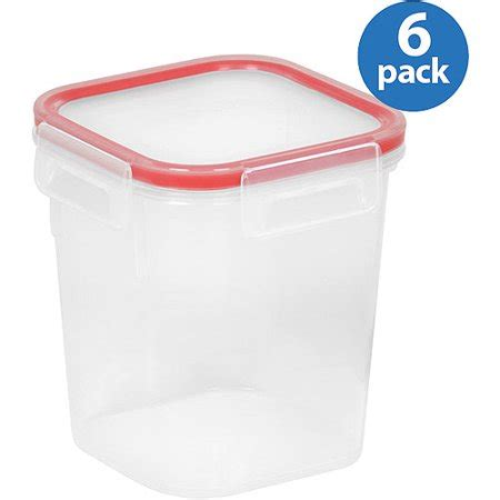 snapware containers snapware airtight plastic 2 8 cup square food storage container 6 pack walmart