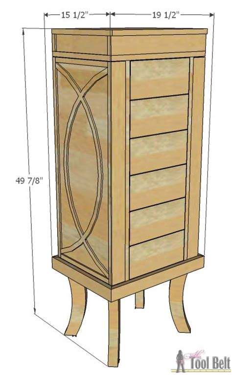 build your own jewelry armoire plans for jewelry cabinet mf cabinets