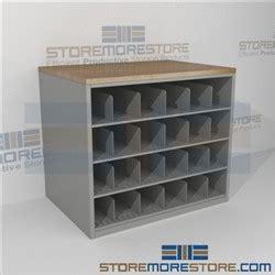 work counter  blueprint storage cubbies rolled