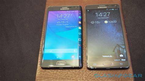 Samsung S6 Note Edge Galaxy S6 Edge Vs Note Edge Samsung Gets Edgy Slashgear