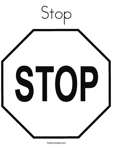 sign templates for pages stop sign template printable az coloring pages clipart