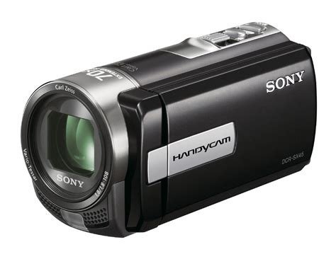Handycam And sony dcr sx45 hd handycam with 70x extended zoom clickbd