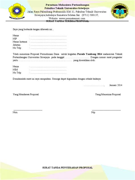 surat tanda serah terima