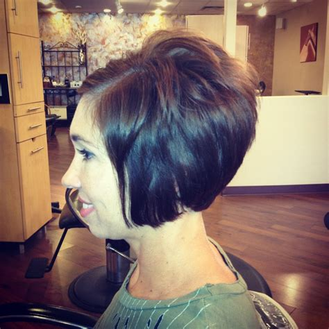 how to cut hair in a stacked bob short stacked bob haircut by debbie at encounters salon