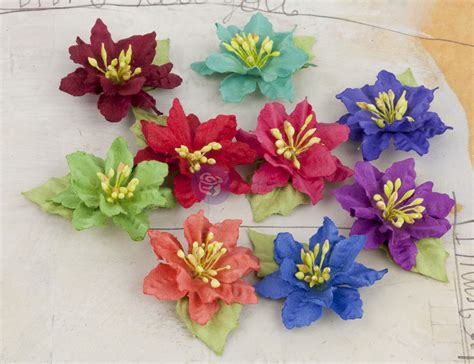 How To Make Mulberry Paper Flowers - prima mulberry paper flowers lil 1 brights