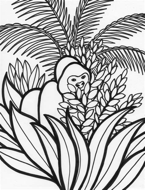 rainforest leaves coloring page free coloring pages of rainforest leaf
