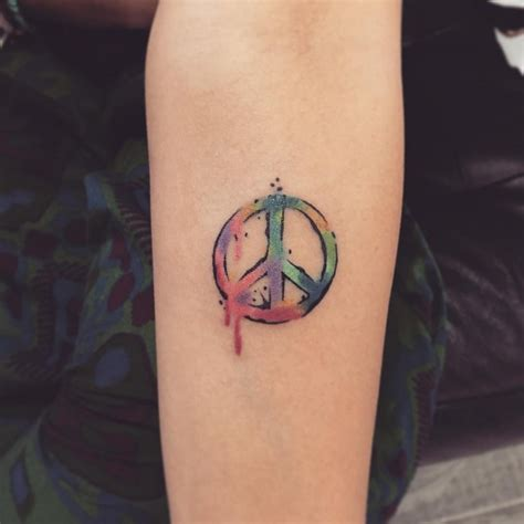 small peace sign tattoo 55 best peace sign designs anti war movement